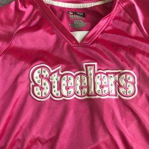 Women's Hot Pink Steelers Jersey